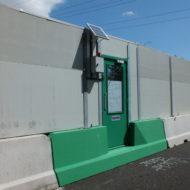 Barrier met vluchtdeur 06